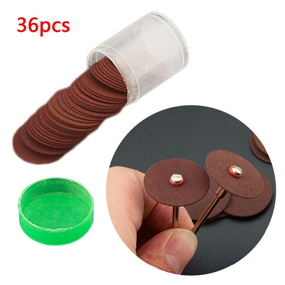 Disco de corte de resina de 36 uds, hoja de sierra Circular, muela de pulido, disco de abrasión lijado de 24mm para herramientas rotativas dremel