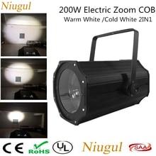 200W LED Spot Zoom Par Light /Warm+Cold White 200W Theater Studio Stage Blinder LED Par Flood Lights /Electric Zoom COB Light