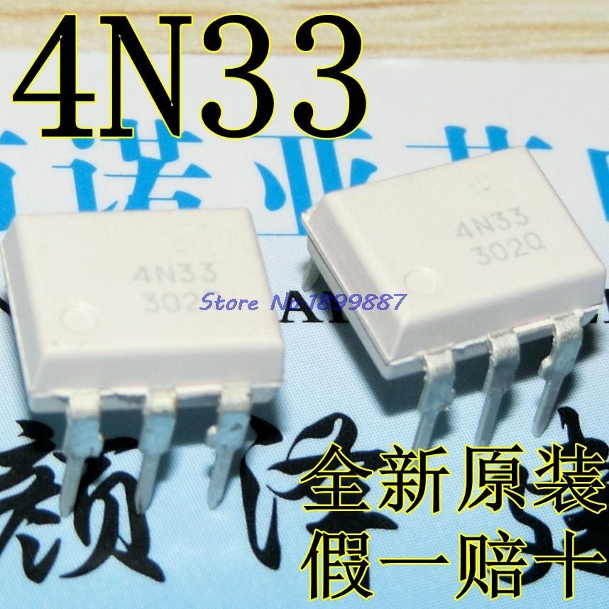 10 unids/lote 4N33M 4N33 EL4N33 DIP-6 de uso General 6-Pin photodarington optoacoplador en Stock