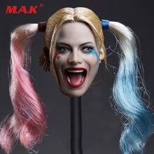 1/6 headplay figur kopf modell weibliche mädchen kopf sculpt JX-012 suicide Squad Joker Harley Quinn 2 paar haar 1/6 kopf sculpt modell