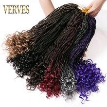 VERVES 1 pack ombre Senegalese twist crochet braids hair 18 inch 30strands/pack synthetic bulk braid
