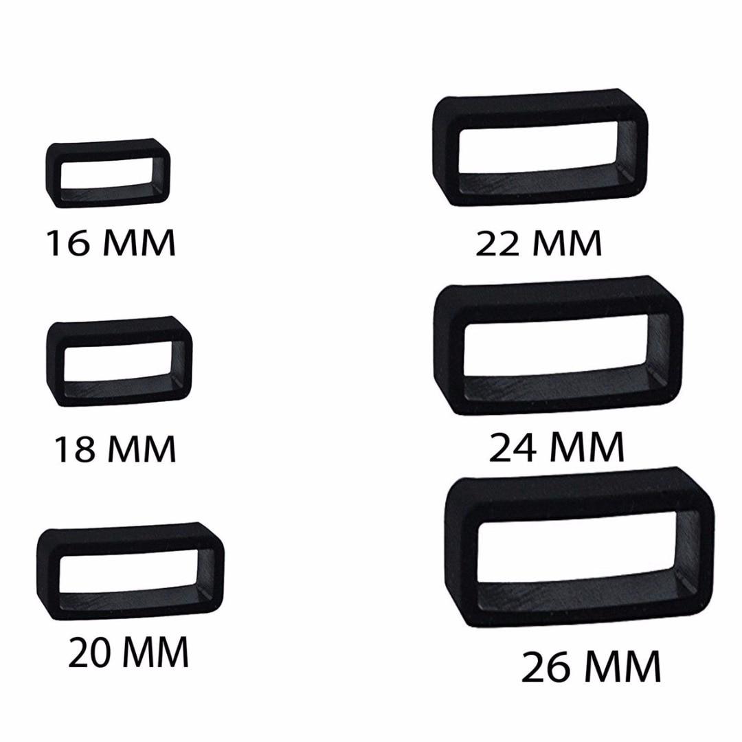 Ремешок для часов Shellhard, 10 шт., черный резиновый держатель для часов, 14 мм/16 мм/18 мм/20 мм/22 мм/24 мм/26 мм