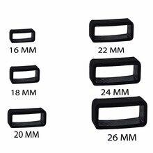 Anneau de maintien noir en caoutchouc de 10 pièces en gomme pour bracelet de montre boucle de bracelet 14mm/16mm/18mm/20mm/22mm/24mm/26mm
