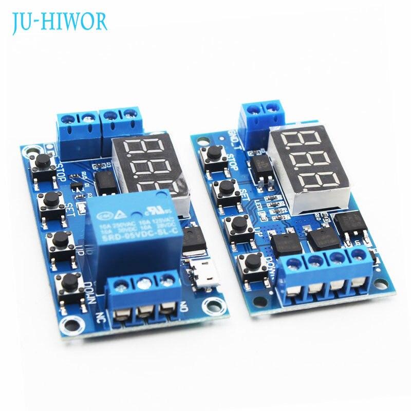 Pantalla Digital LED módulo de relé de retardo (A1 disparador MOS) o (con relé) interruptor de ciclo de Control de temporizador de circuito ajustable