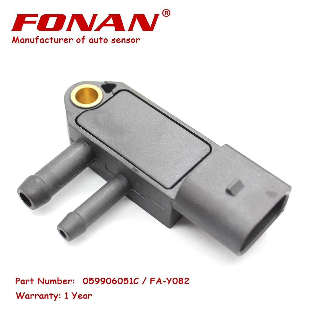 DPF Sensor de presión diferencial para Audi A1 1,6 2,0 TDI A3 A4 SKODA Octavia Superb, VW GOLF VI JETTA 059906051C 0281006083 DPS10