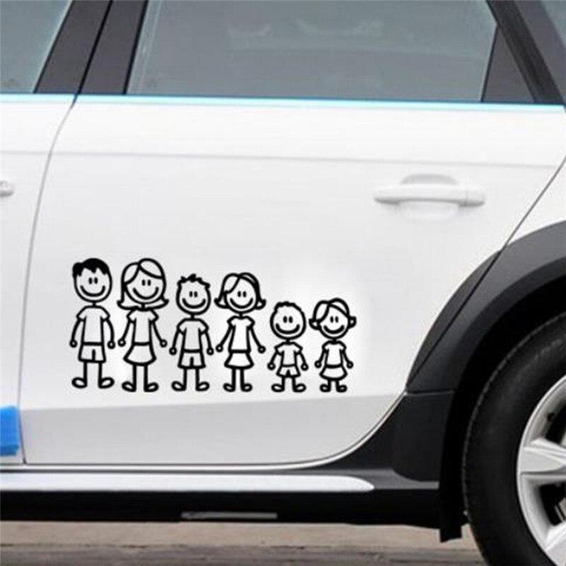 Pegatina personalizada de vinilo para miembros de la familia, pegatina para coche,...