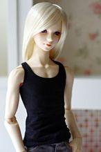 [wamami] 06# Black Vest/T-Shirt 1/4 MSD DOD BJD Dollfie