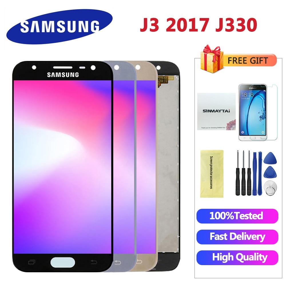 High Quality J330 LCD For Samsung Galaxy J3 2017 J330 J330F SM-J330 LCDs Display Touch Digitizer Screen free gift
