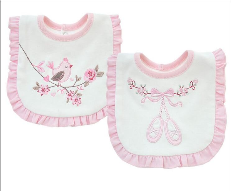 baby girl bibs princess pink style baby cotton bandana bibs