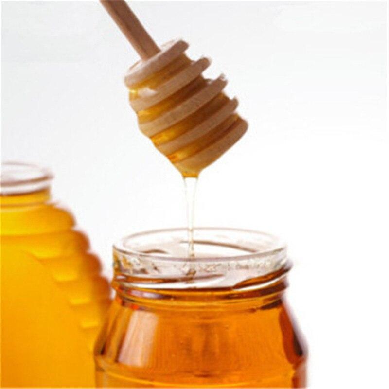 Nueva cuchara de madera caliente para servir miel, cuchara de madera para servir miel, servidor de miel, agitador de café, cucharadita de cocina, accesorios