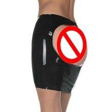 Gorąca nowa lateksowa seksowna spódnica mini impreza czerwona i czarna bez szwu bez zamka z otwartym tylko jednym okrągłym biodrem