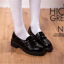 Linda Lolita chica mujeres dama botas de punta redonda zapatos de cuero Japón JK alta uniforme de la escuela Kawaii zapatillas de deporte Anime Cosplay 2019