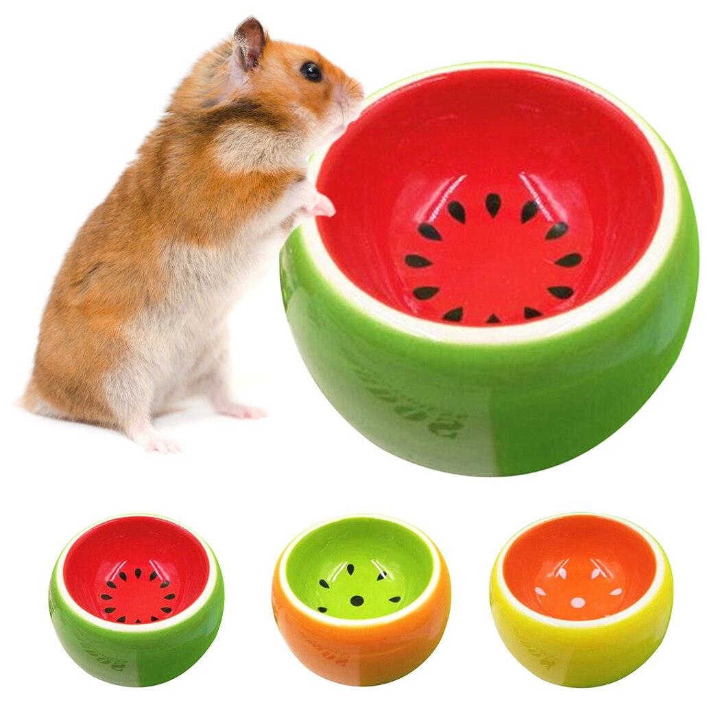 Милый фруктовый узор хомяк керамическая еда вода закуски питатель для домашних животных белка морская свинка Шиншилла для хорька зайца чаша