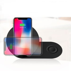 Youbina  2in1 QI Wireless Charger fast charging Stand for iPhone X 8 xr xs max apple watch  Samsung  watch