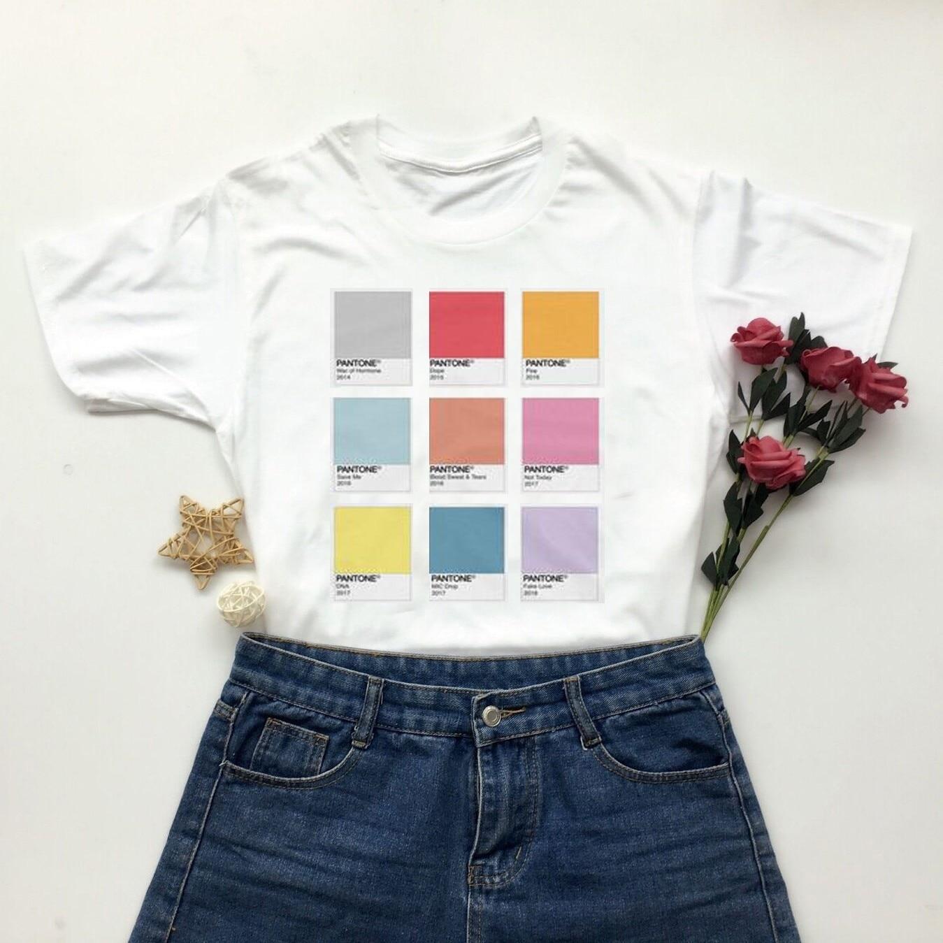 Женская футболка kuakuayu HJN, белая футболка с пламенем