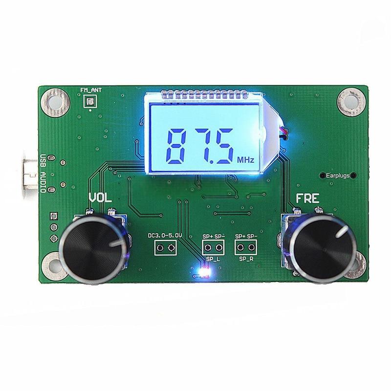 87-108 mhz dsp & pll lcd estéreo módulo receptor de rádio fm digital + controle de série