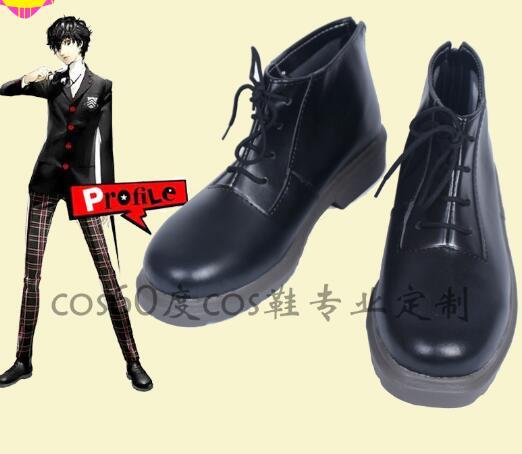 Persona 5 PA5 Joker negro Cosplay zapatos hechos a medida
