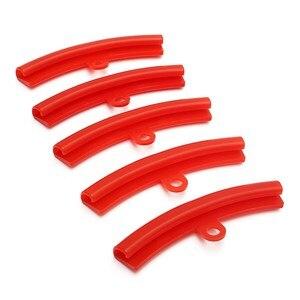 Image 2 - Защитная пленка для автомобильных шин, 5 шт., Красная резиновая защита для обода, сменные края обода, инструменты для защиты бампера из полиэтилена