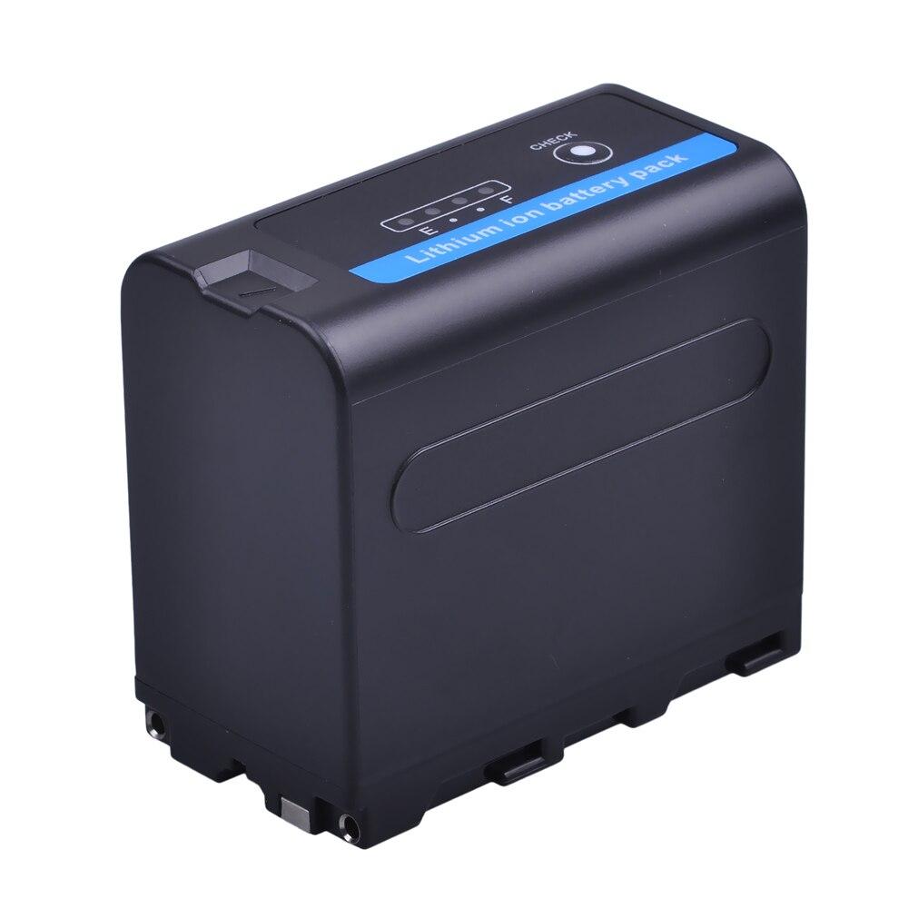 Batería NP-F970 para cámara NP-F960, 1 Uds., 7,2 V, 7200mAh, con indicador de potencia LED para batería Sony NP-F960 NP-F970, batería NP F960