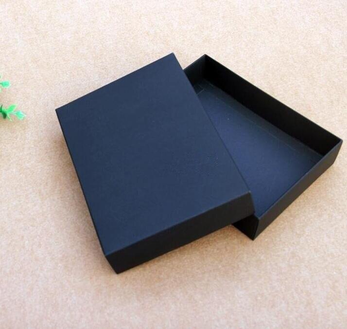 10 шт./лот, высокое качество, пустая подарочная упаковочная коробка, черная коробка для хранения одежды, большой размер, картонная упаковка, с...