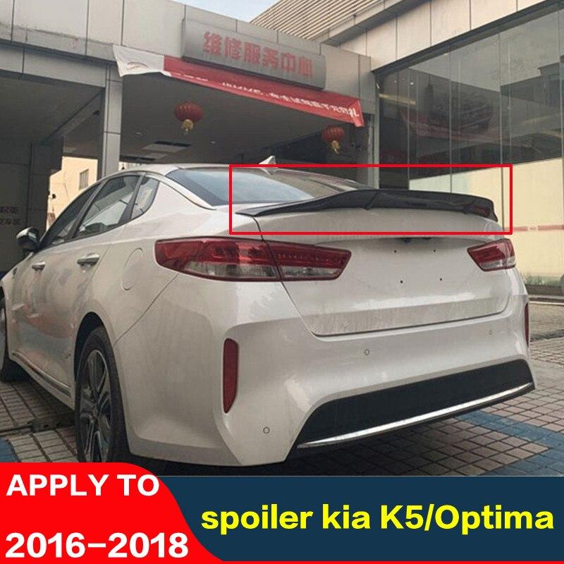 Для kia K5/спойлер Optima 16 17 18 K5 задний спойлер для губ из углеродного волокна высокое качество цветное крыло автомобиля багажник задний плавник ...