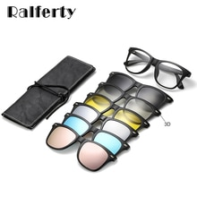 Ralferty Magnetic Sunglasses Women Clip On Sunglass Men Polarized UV400 High Quality TR90 3D Night V