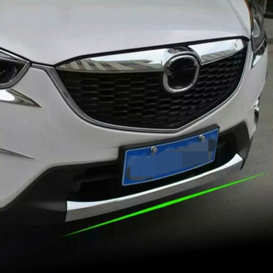 ABS, cubierta de labio para parachoques delantero Exterior de coche, cinta de ajuste de estilo para Mazda CX-5 CX5 2013-2016, accesorios