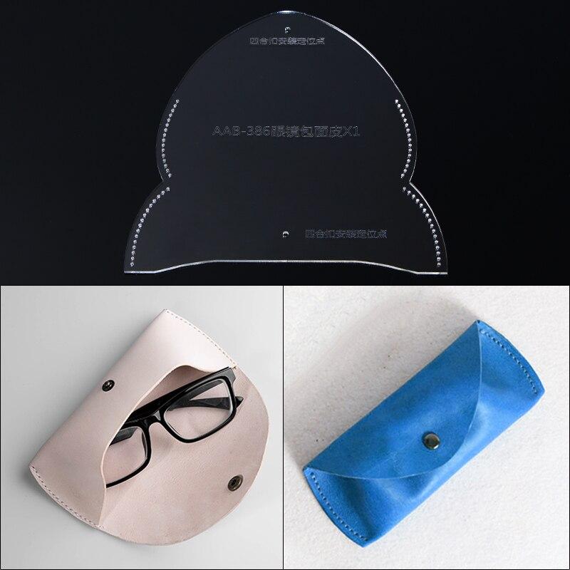 16*6.5*3.5cm acrílico óculos de sol bolsa de bolso caso artesanato couro estêncil corte modelo