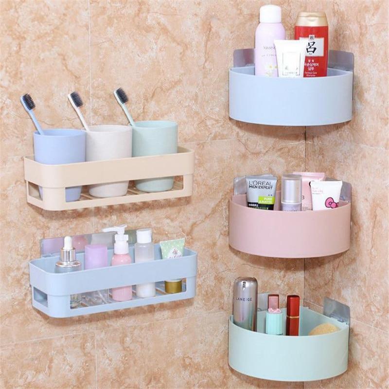 Mrosaa полка для ванной комнаты, настенная угловая наклейка на полку, кухонная полка для хранения приправ, держатель для шампуня, полотенца, сл...