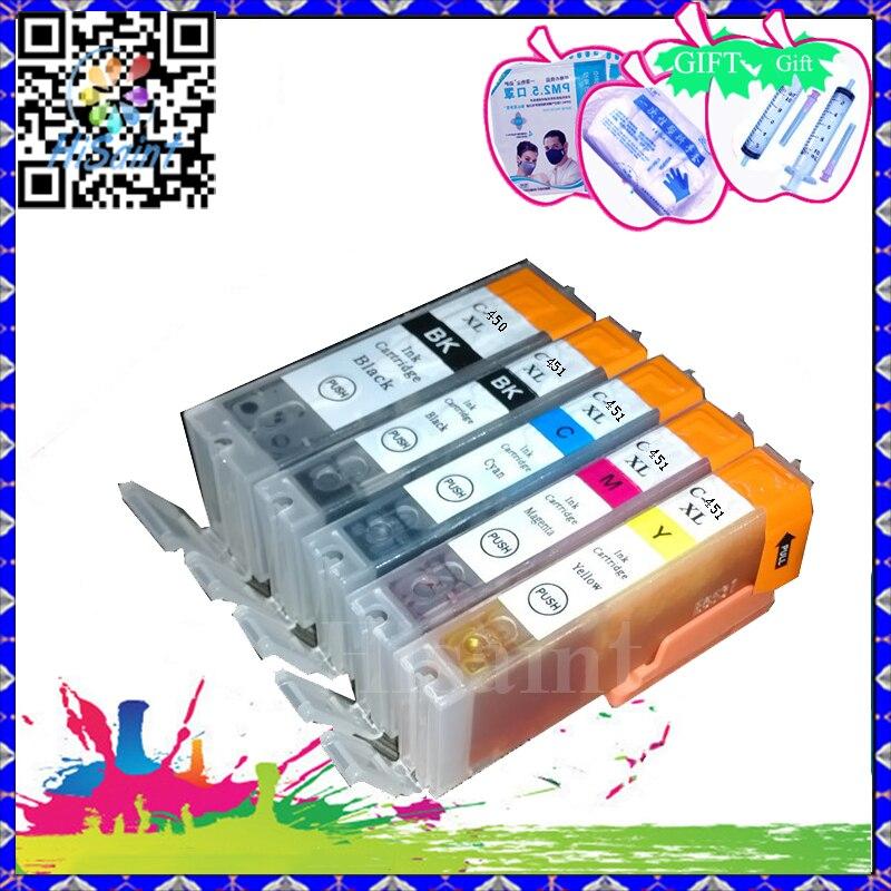 Hisaint 10 ピース PGI450 CLI451 インクカートリッジ PGI 450XL CLI キヤノン IP7240 451XL MG5440 5540 5640 MX724 IX6840 MX924 送料無料