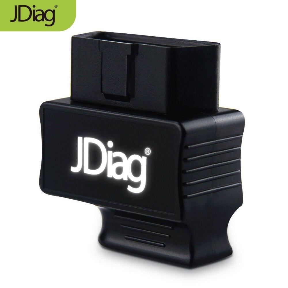 Recién llegado JDiag Faslink M2 Bluetooth 4,0 OBDII herramienta de diagnóstico de coche OBD2 lector de código PK EasyDiag iDiag