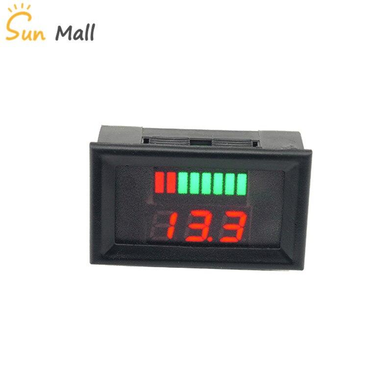 12-60V 12 V/24 V batería de plomo-ácido indicador LED Digital voltímetro probador voltaje medidor corriente instrumentos eléctricos