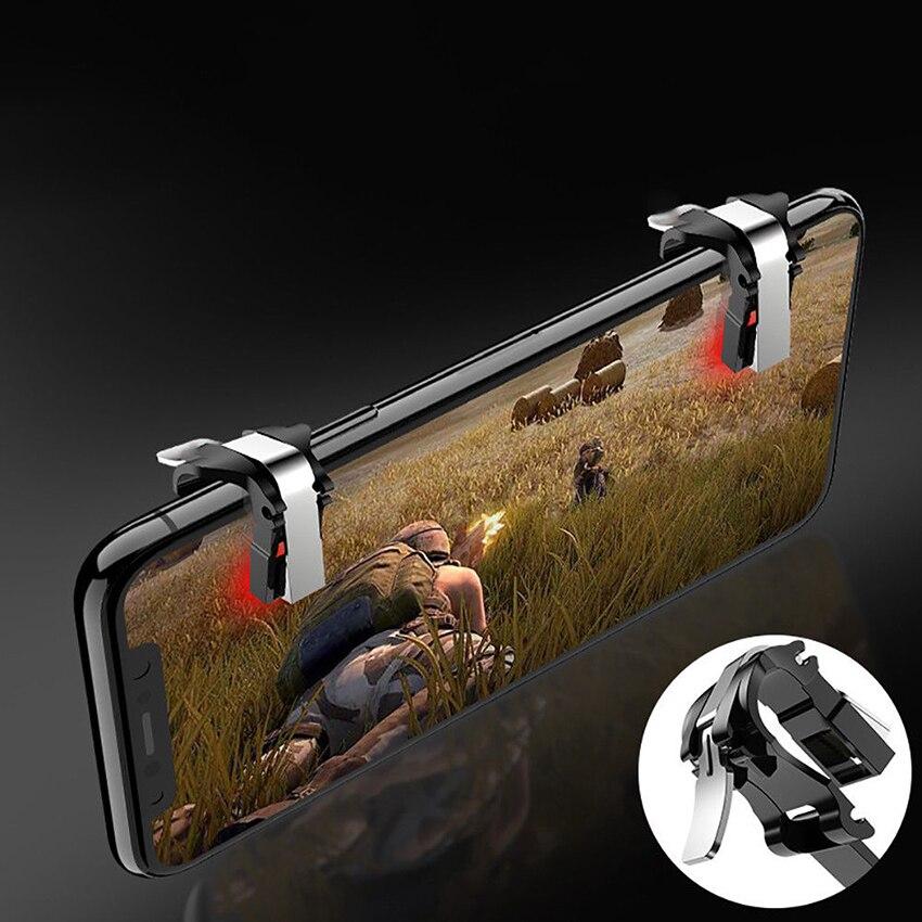 Teléfono Móvil PUBG gatillo para juegos Sujeción con botones de disparo para controlador tirador L1R1