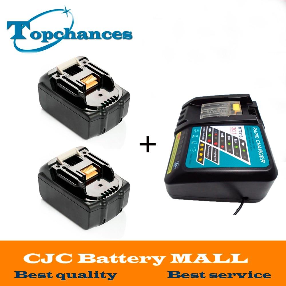 Высокое качество, 2 шт., совершенно новый литий-ионный аккумулятор 3000 мАч 18 вольт для Makita BL1830 Bl1815 194230-4 LXT400 + зарядное устройство