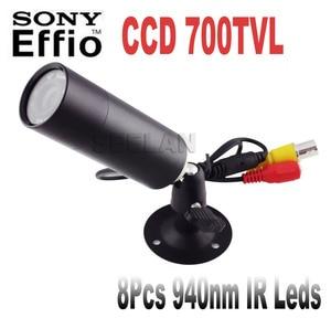HQCAM Sony Effio-E 700TVL Mini Bullet Camera Bullet Outdoor Invisible 10pcs IR 940NM 0 lux Night Vision CCTV Camera 4140+810\811