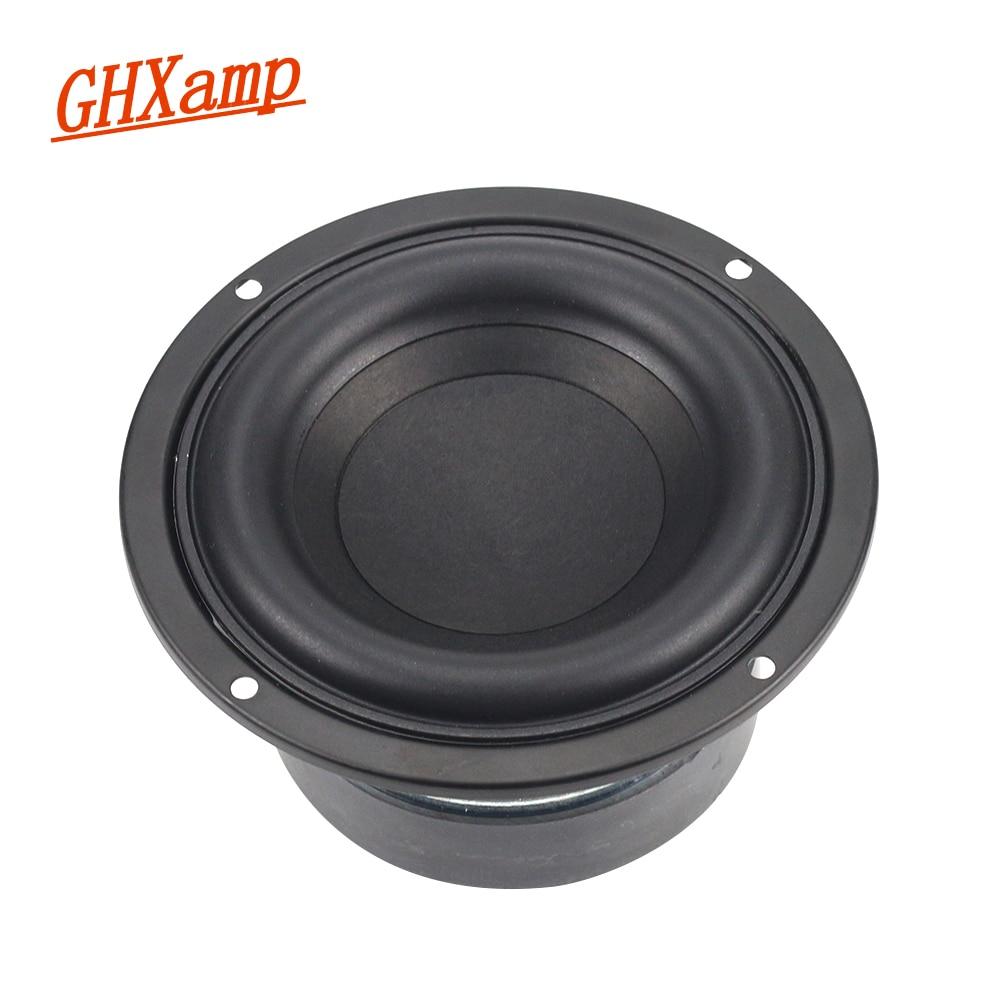 مكبر صوت مستدير 4 بوصة 40 وات GHXAMP مكبر صوت عالي الطاقة يصلح للمسرح المنزلي 2.1 وحدة مضخم صوت 2 مكبر صوت متقاطع DIY 1 قطعة