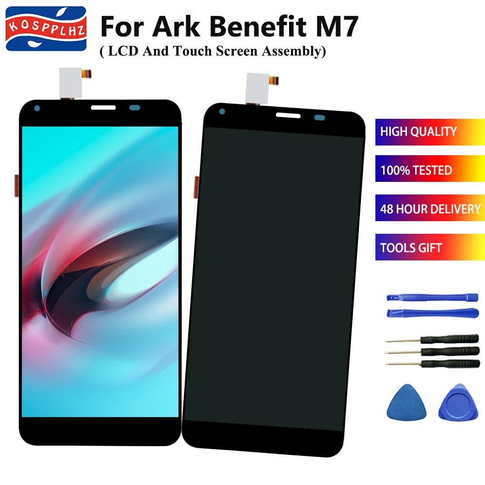 Benefit M7 pantalla LCD para Ark Benefit M7 pantalla LCD y montaje de digitalizador con pantalla táctil reemplazo + herramientas