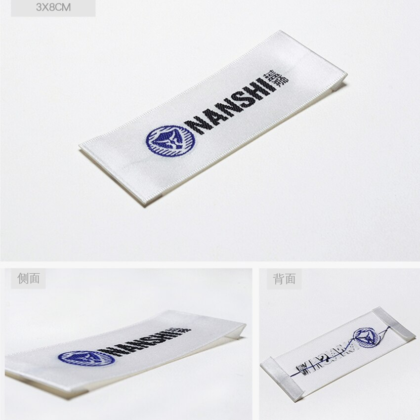 ZeQi prenda personalizada etiquetas tejidas grifas etiqueta principal personalizada etiquetas lavables 1000 unids/lote