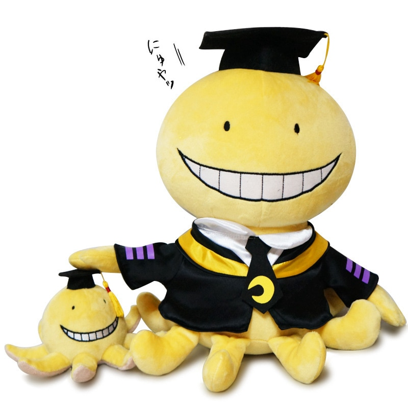 2pcs/lot Anime Assassination Classroom Korosensei Cute Plush Doll Toys Action Figure