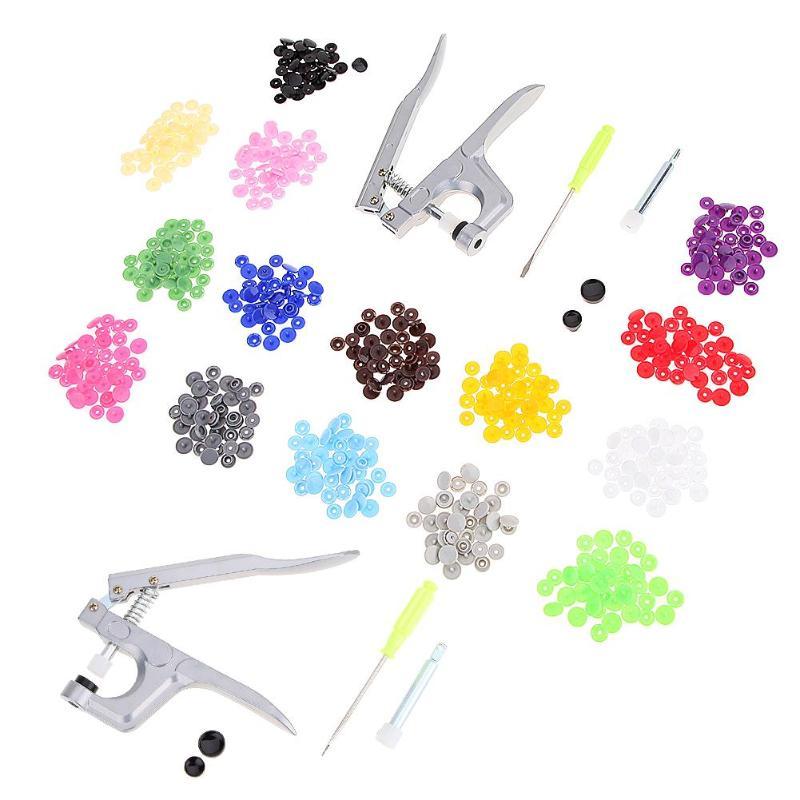 Alicates de presión de sujeción 150 Uds. Herramientas de presión de botón de sujeción de resina de plástico