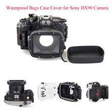 Meikon 40 m/130ft Sualtı Dalış kamera muhafazası Sony HX90, kamera Su Geçirmez Çanta Kılıf Kapak Sony HX90 Kamera