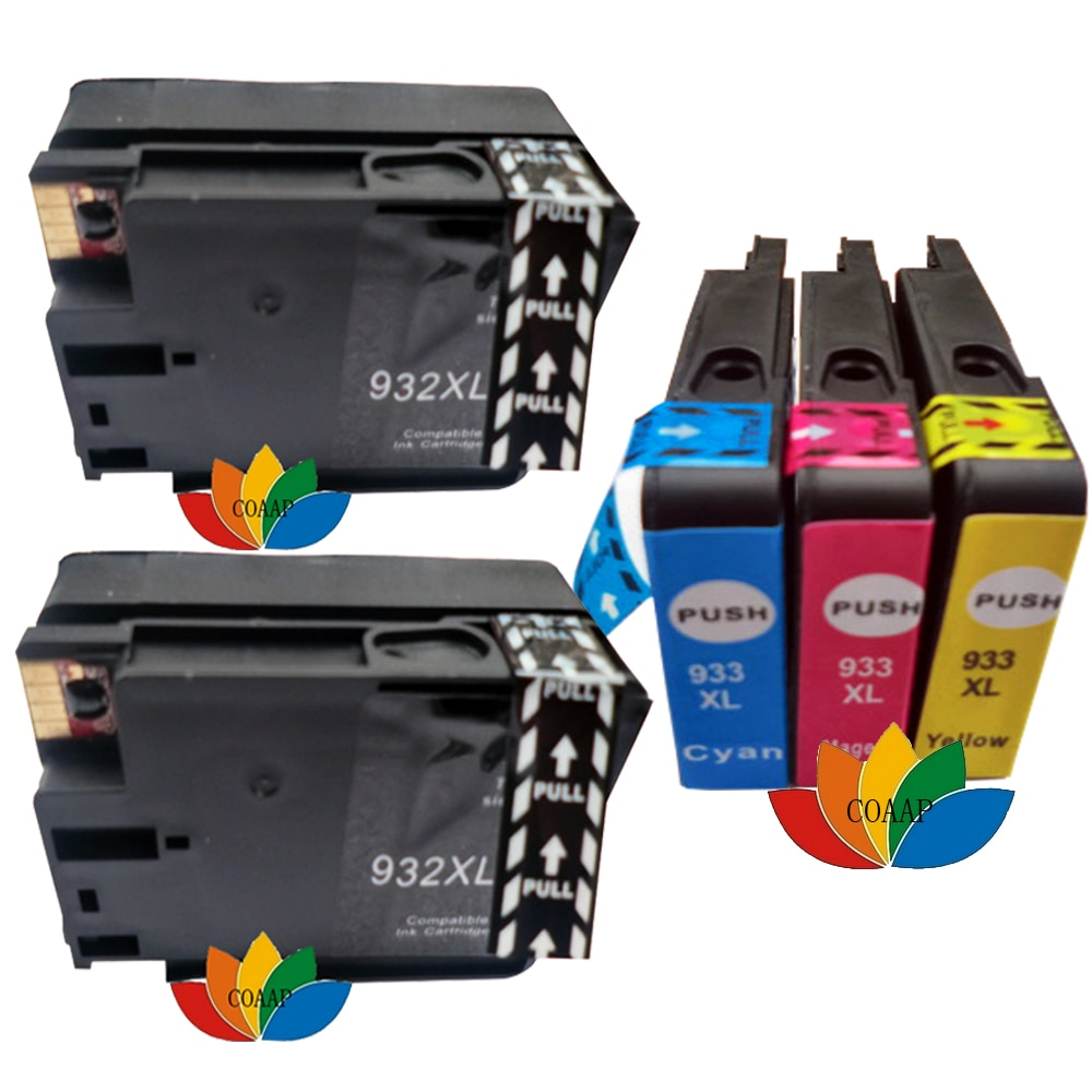 5 Compatible Ink Cartridge for HP 932XL 933XL Officejet 7110 7610 7612 6100 6600 6700 Printer peifu print head for hp932 933 printhead for hp officejet 7510 7512 6700 7610 7110 7612 932 932xl 7600 6060 6100 6600