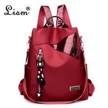 Style Simple dames sac à dos anti-vol Oxford tissu bâche couture paillettes juvénile collège sac sac à main sac à dos Mochila