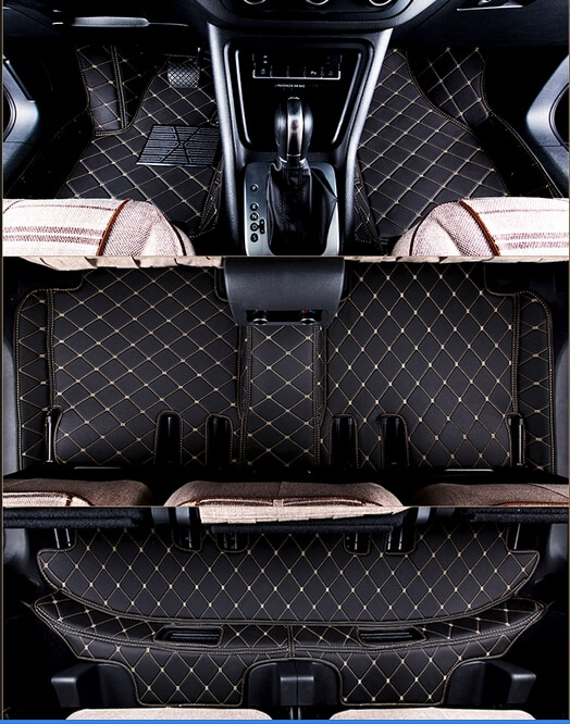 Tapis de voiture bon! Tapis de sol durables et étanches   Pour Audi Q7 7 sièges 2014-2006, coussins de pied de voiture pour Q7 2013, livraison gratuite
