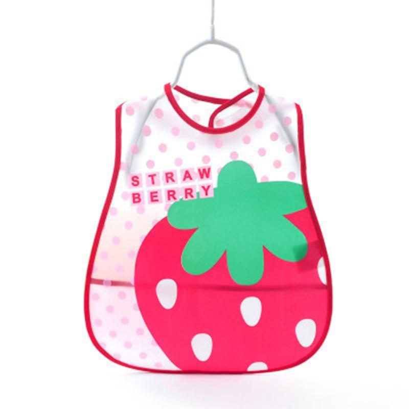 Baberos ajustables de EVA, Baberos impermeables para el almuerzo para niños, niñas y bebés, babero de dibujos animados, paños para el cuidado de la autoalimentación de los niños