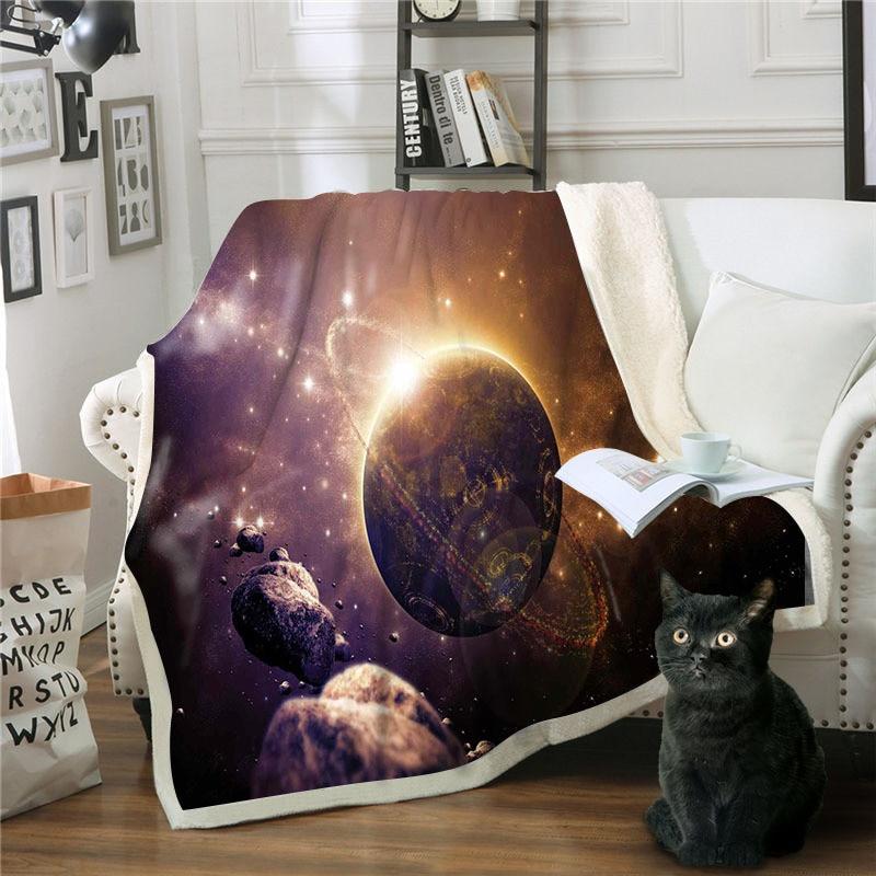 Mantas para camas planeta Cubrecama De Invierno Manta sofá Cobertor Manta Polar