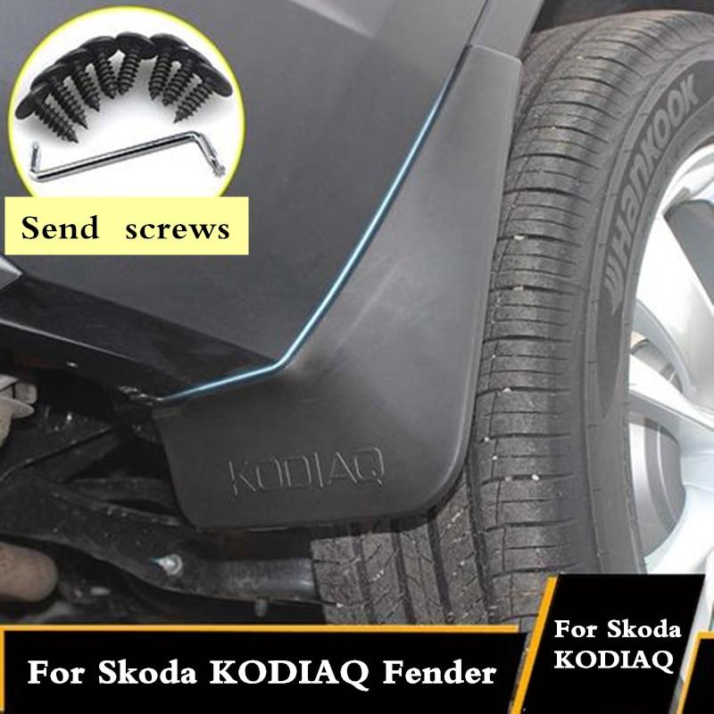 Guardabarros de 4 Uds para Skoda KODIAQ 2016 2017 2018 2019, guardabarros, accesorios exteriores, suministros de neumáticos decorativos