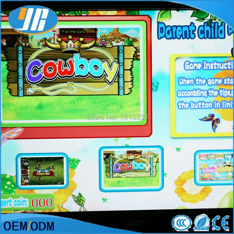1 unids envío libre 61 en 1 One Touch para niños juegos arcade cabina Junta familia juegos multi PCB