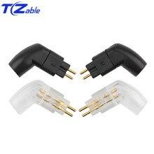 Hifi 0.78mm Earphone Pin Plug 90 Degree For UE11 ES3 W4R UE18 um3xrc DIY Headphone Upgrade Plug Solder Wire Connector Audio Jack