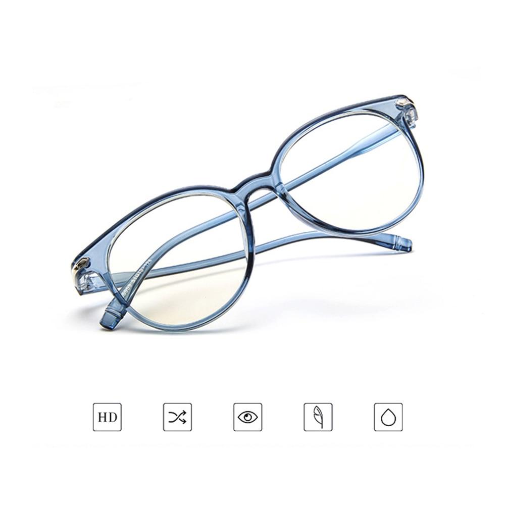 Retro Round Transparent TR90 Ultra Light Frame Custom Made Prescription Glasses Photochromic Grey/ B